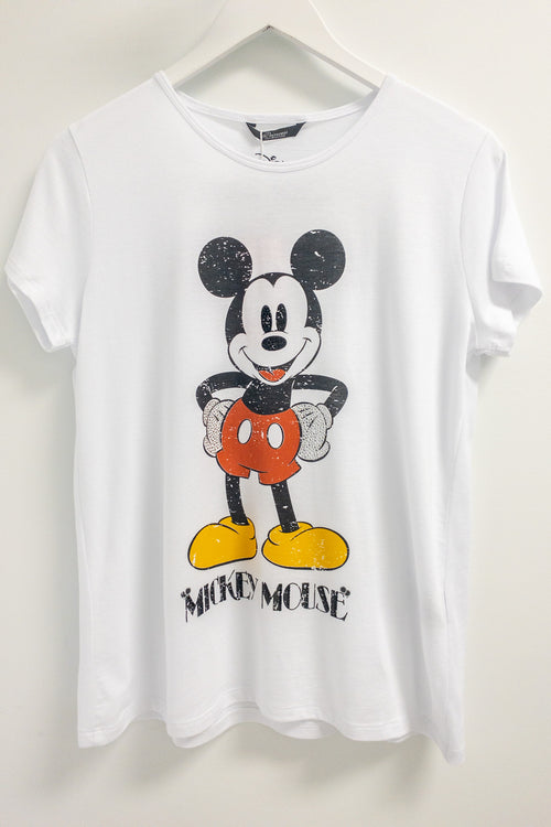 Princess Goes Hollywood Mickey Mouse T-Shirt with Rhinestone