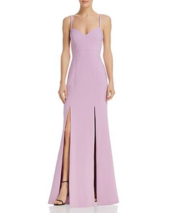 LIKELY Alameda Gown Lilac. Robe longue