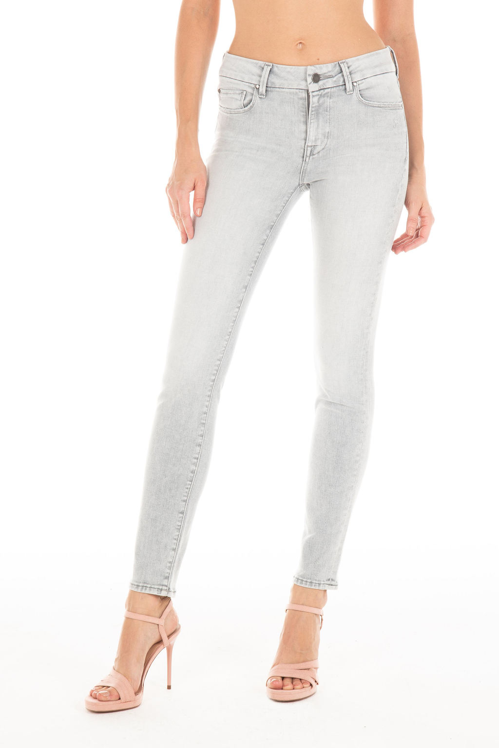 FIDELITY Vintage Frost Mid Rise Skinny Jeans skinny taille mi-haute