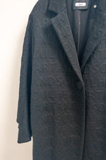 Riani Black Oversized Coat with Letterings