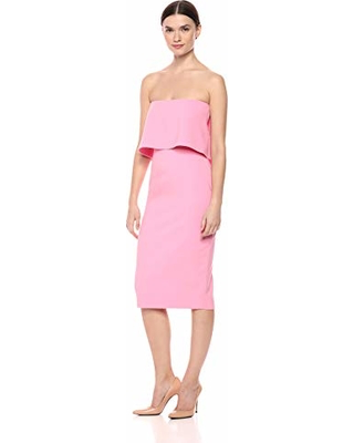 Driggs Strapless Cocktail Dress Baby Pink Robe cocktail rose pâle