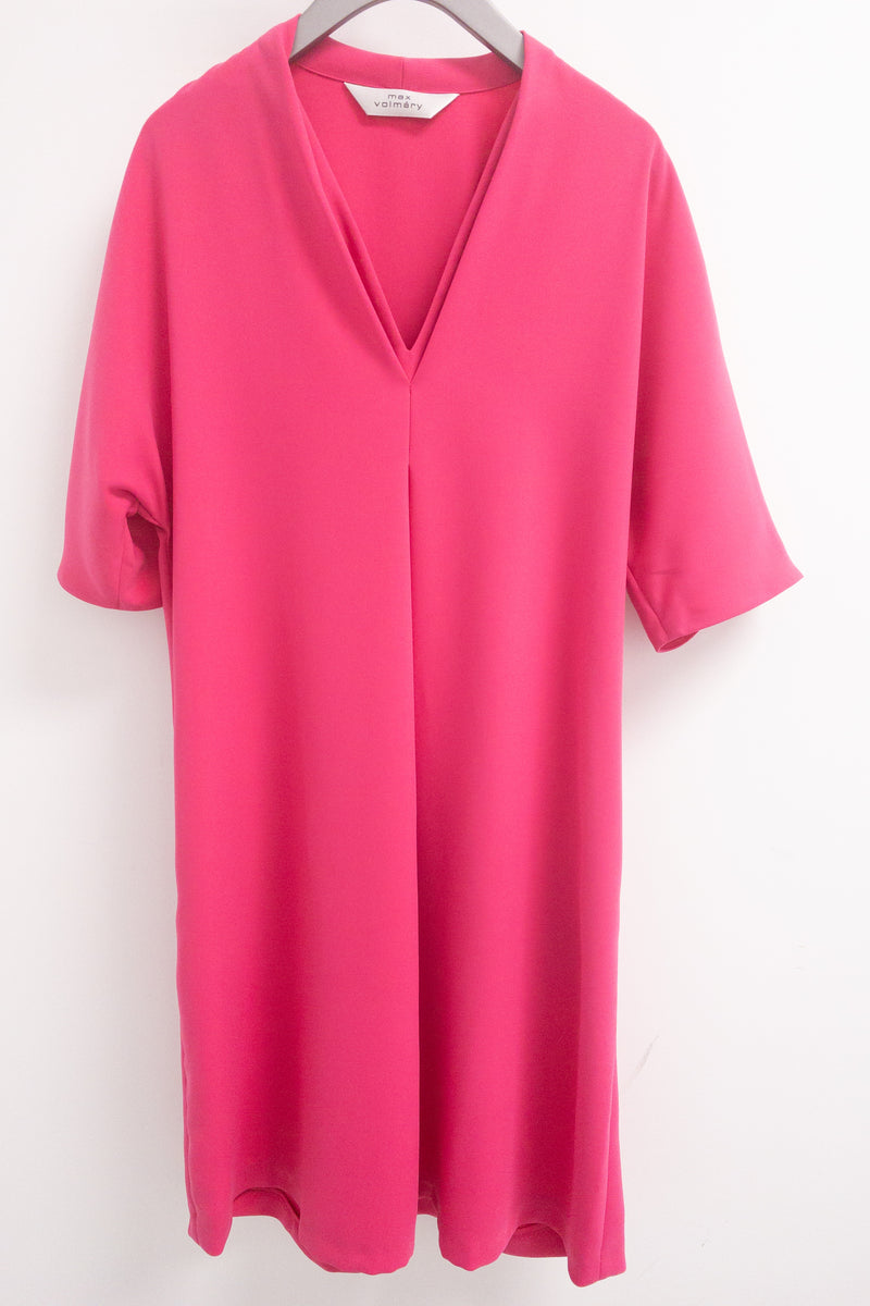 Max Volmary V-Neck Dress with Pockets