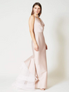 SACHIN & BABI V-neck Mermaid Gown ruffle tulle train