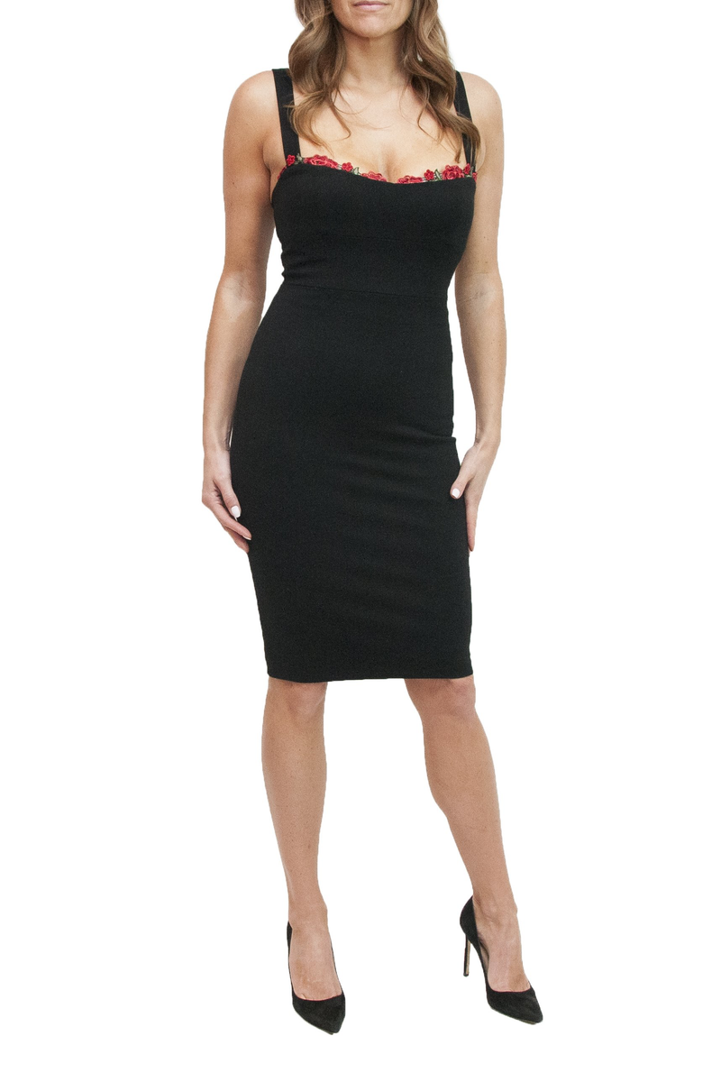 LOA LABEL Jennifer Black Cocktail Dress. Robe de cocktail noire