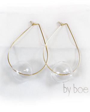 By Boe gold fill ball earrings