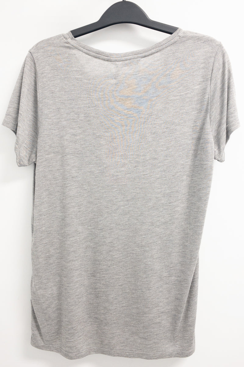 Princess Gray T-shirt Minnie Mouse Sequin ALL GOOD
