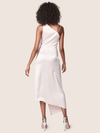 ALLEN SCHWARTZ One Shoulder Shirred Dress Robe