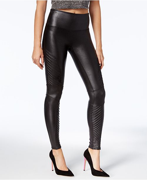 Spanx Faux Leather Moto Leggings faux cuir