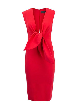 Greta Constantine Red Cocktail Dress Robe cocktail rouge