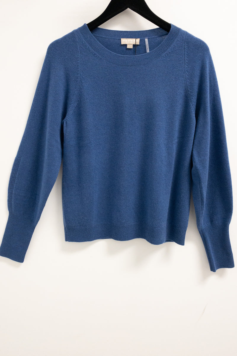 REPEAT Organic Cashmere Crew Neck Sweater Blue