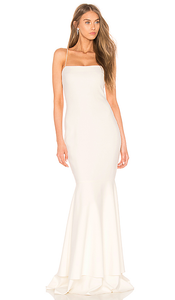 LIKELY White Mermaid Gown. Robe Blanche bustier longue de soirée