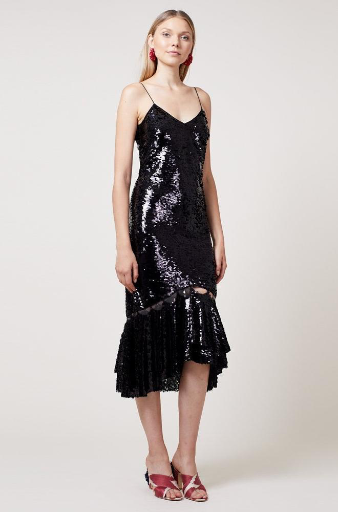 Sachin & BABI Sequin party dress robe de soiree en paillettes