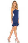 Likely Cocktail Dress Ruffle Hem Blue