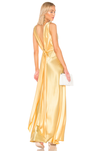 JILL JILL STUART Satin Gown with Open Back Robe de soirée en satin dos ouverte
