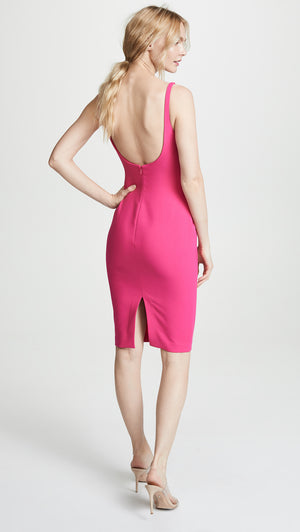 Robe Silhouette ajustée Likely Fuchsia Fitted Dress Gabrielle Open Back