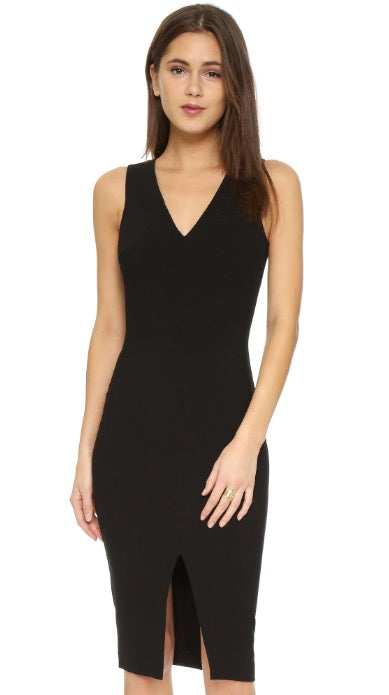 LIKELY Park- Fitted Black Dress. Robe de bal slim, noire