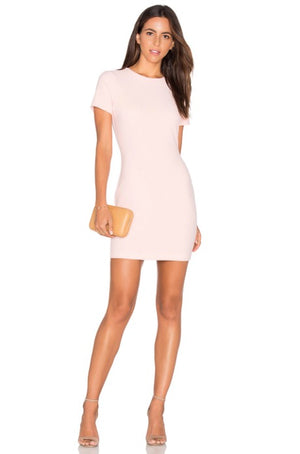 Manhattan Pink Dress. Robe de bal coupe slim, rose