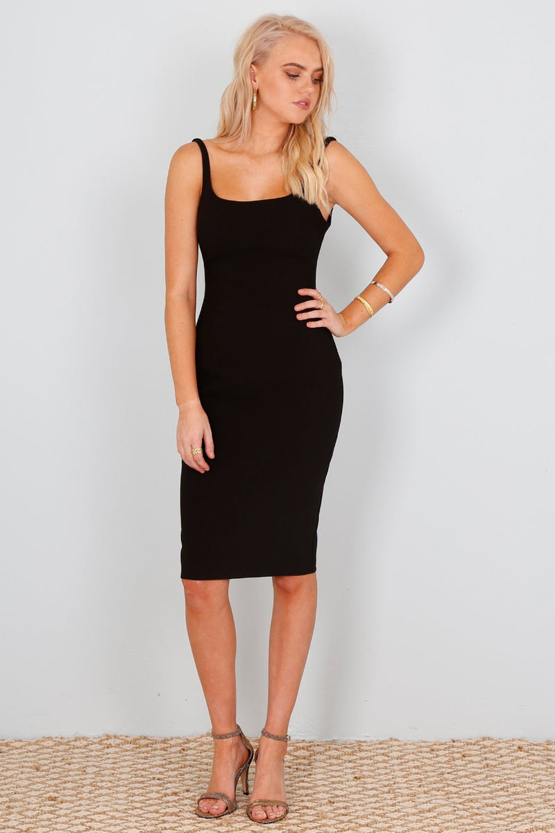 Robe Noire Silhouette ajustée Likely Black Fitted Dress Gabrielle
