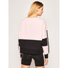 Chandail rose avec paillettes Liu Jo Pink and Black Cotton Sweatshirt with Sequin Sleeve Detailing