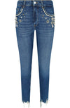 Liu Jo Spoke Wash Jeans with Beads and Pearls