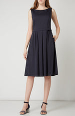 Luisa Cerano Pleated Skirt Sleeveless Dress