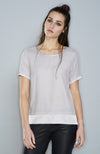Max Volmary Short Sleeve Silk Top