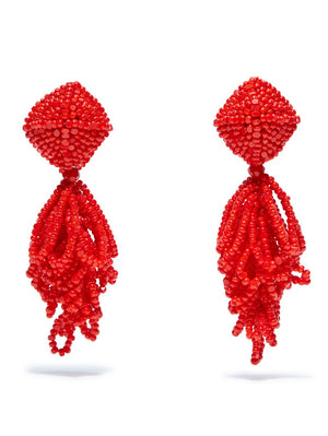 SACHIN & BABI Mini Lulu Earrings Red Pendants d'oreilles rouge