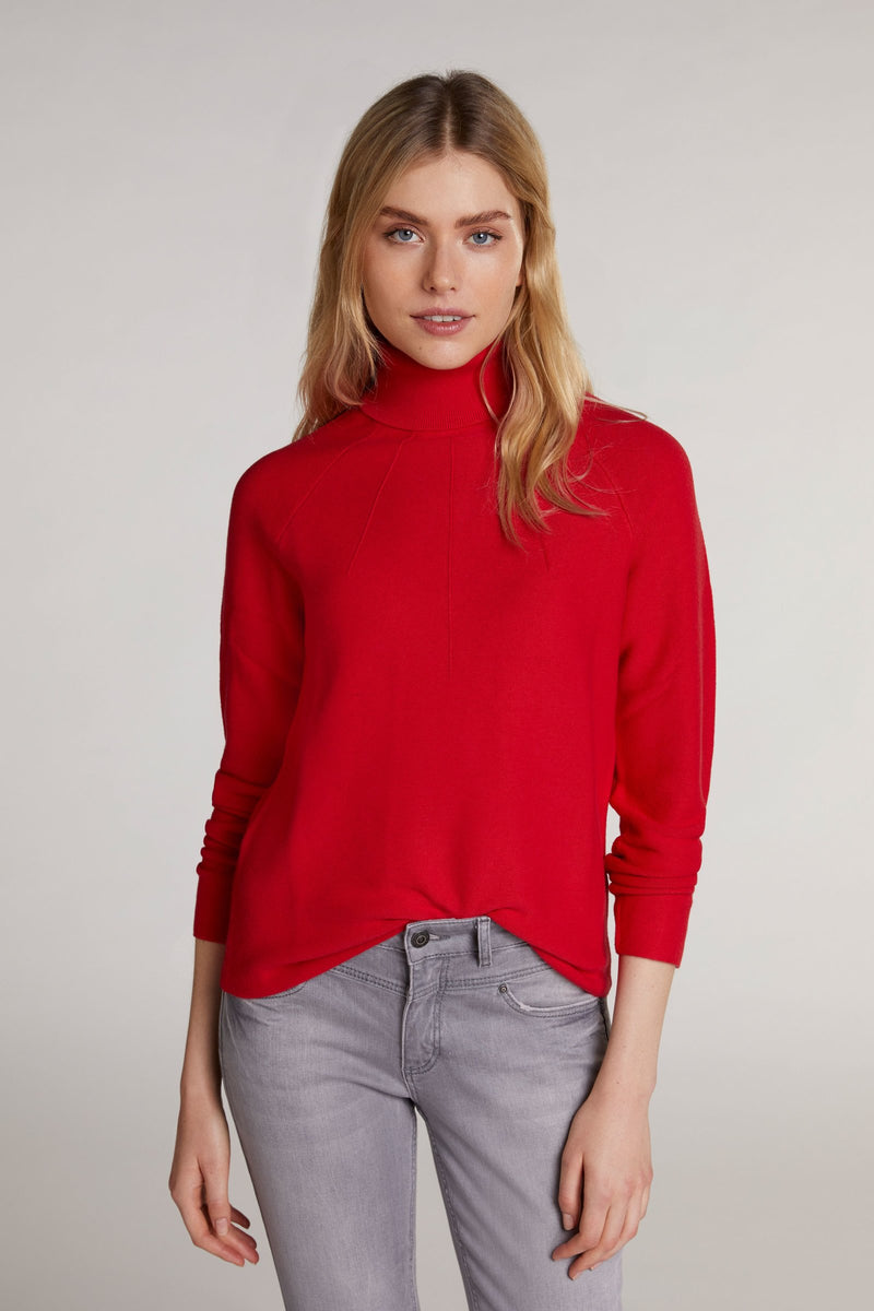 Oui Red Turtle Neck Sweater