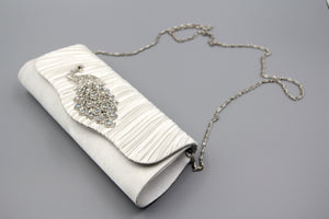 Peacock Crystal Evening Clutch Bag Bridesmaid Bridal Prom. Pochette de soirée de bal.