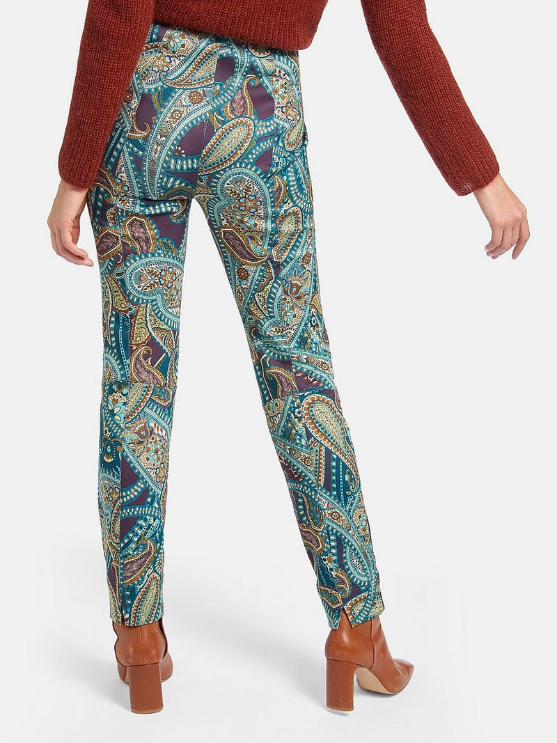 Raffaello Rossi Printed Fitted Penny Pants