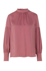 Rosemunde Mock Neck Baloon Sleeve Blouse