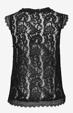 Rosemunde Sleeveless Lace Top Black