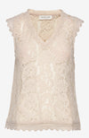 Rosemunde Sleeveless Lace Top Beige