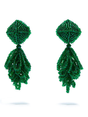 SACHIN & BABI Mini Lulu Earrings Green Pendants d'oreilles