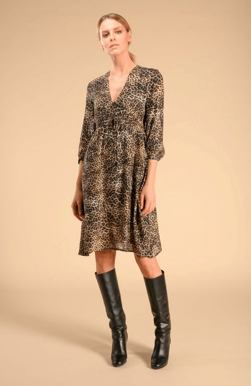 SEVENTY Leopard Print Tunic Dress Robe