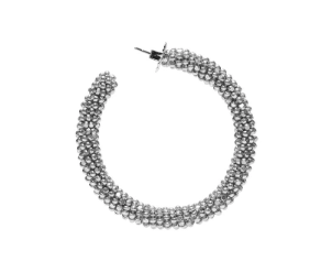 A pair of Hoop Earrings Silver by SACHIN & BABI Boucles d'oreilles argent
