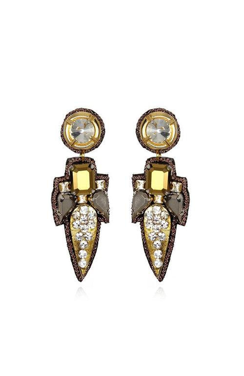 SUZANNA DAI Torreon Small Drop Earrings Pendants d'oreilles