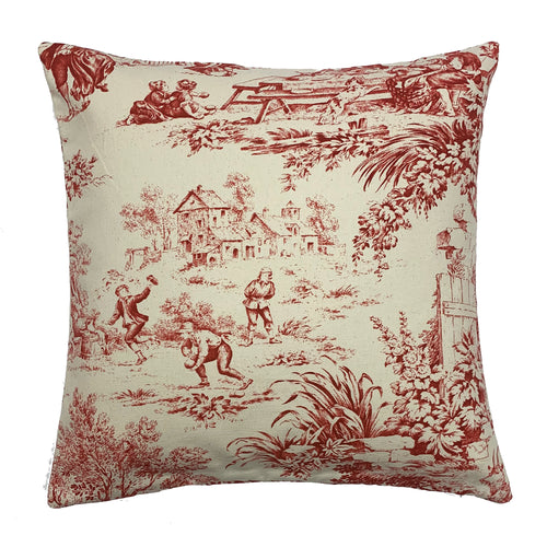 Red Windermere Throw Pillow Cover