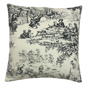 Noir Windermere Throw Pillow Cover