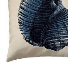 Blue Seashell Nautical Throw Pillow Cover