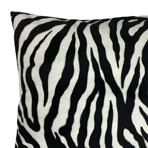 Zebra Faux Fur Throw Pillow Cover