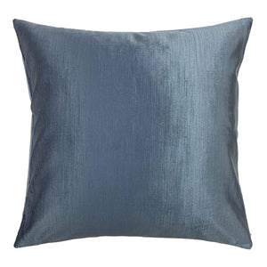 Victoria Corduroy Blue Throw Pillow Cover