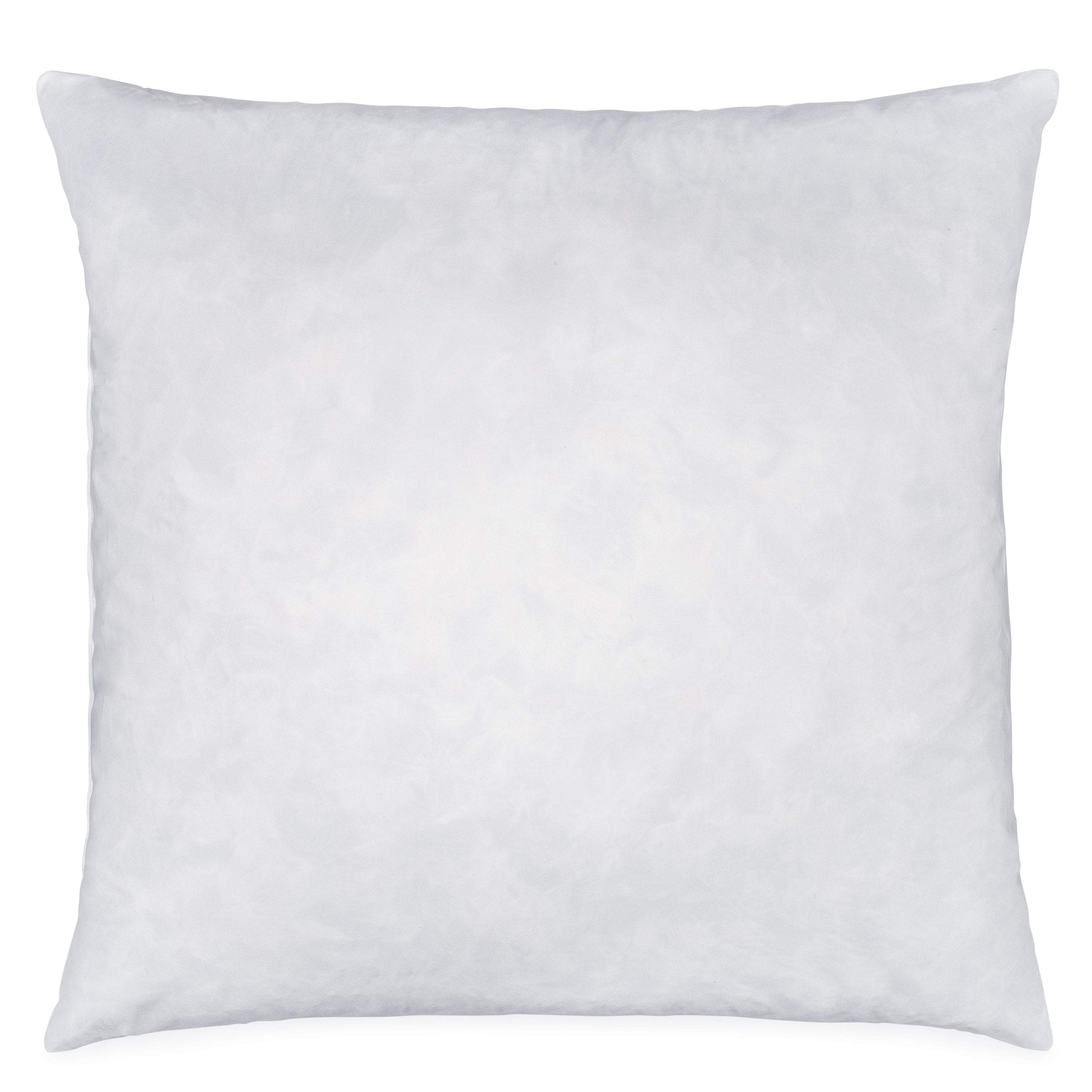 Danmitex Set of 2-24x24-Down Feather Euro Pillow Inserts-Cotton Fabric