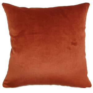 Red Velvet Solid Luxe Throw Pillow Cover