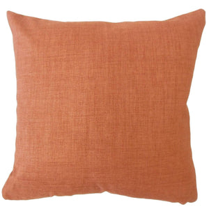 Orange Synthetic Solid Contemporary Throw Pillow Cover