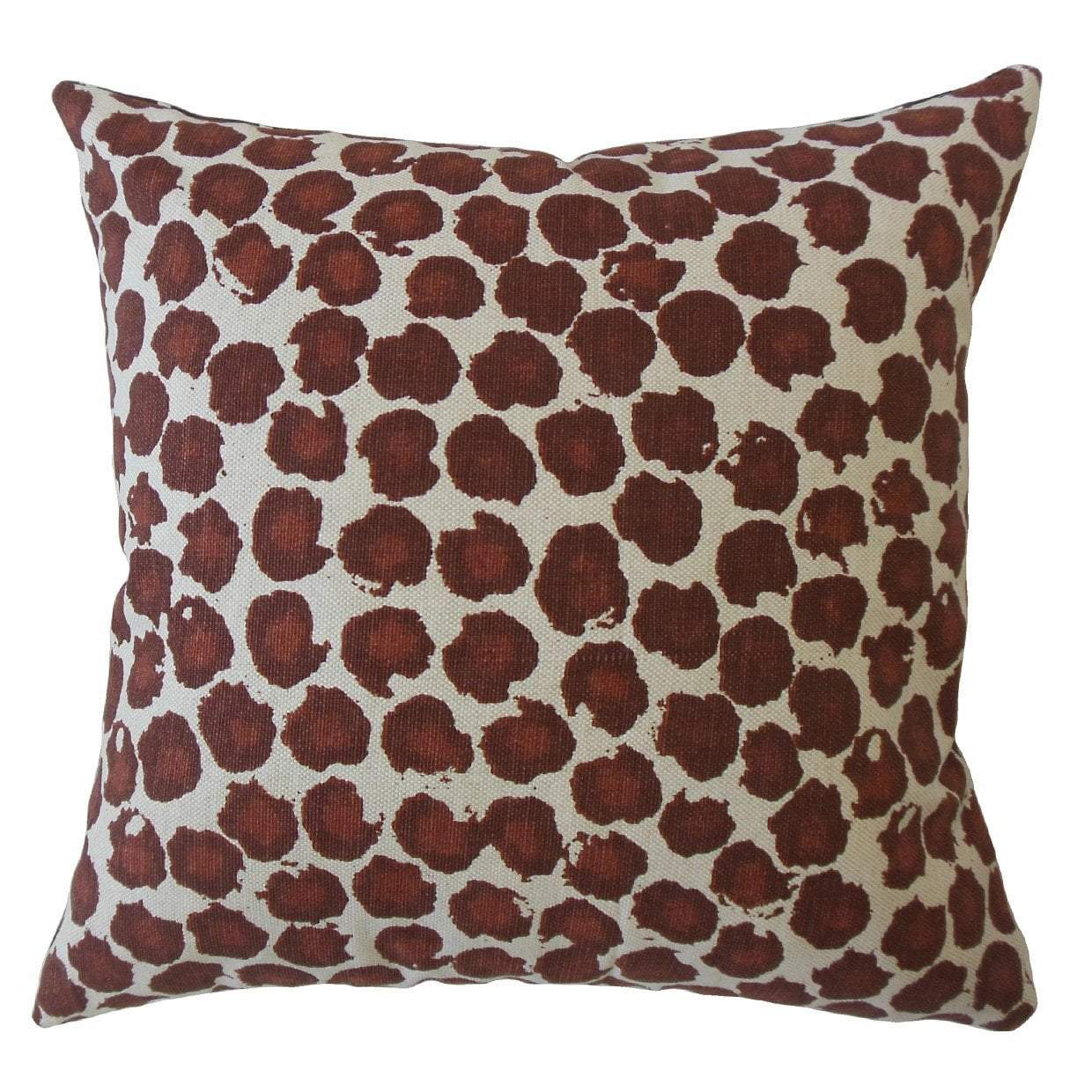 Brown Cotton Ikat Boho Throw Pillow Cover
