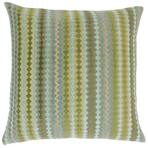 Synthetic Geometric Contemporary Throw Pillow Cover