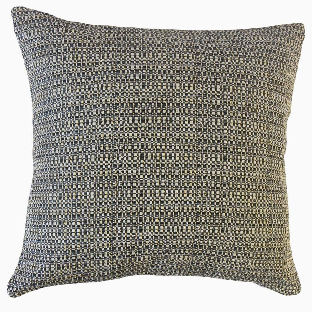 Black Synthetic Solid Contemporary  Throw Pillow Cover