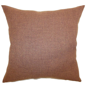 Brown Cotton Solid Contemporary Throw Pillow Cover