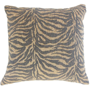 Black Synthetic Graphic Lodge Throw Pillow Cover